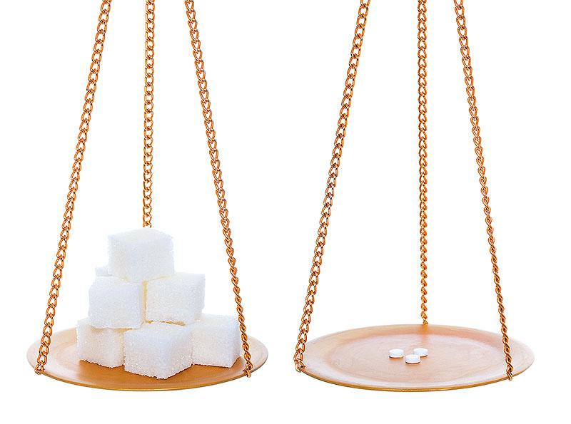Tabla de equivalencia cambio de azúcar por edulcorantes