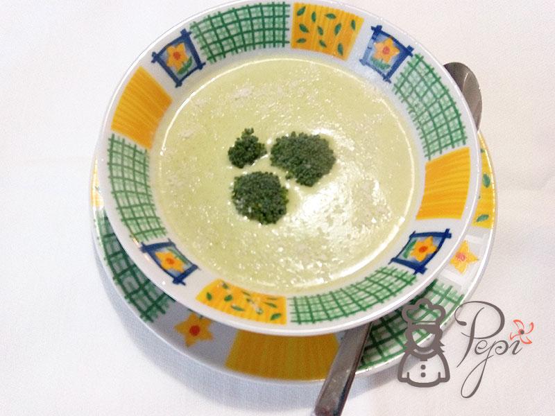 Crema de brócoli, puerro y patatas