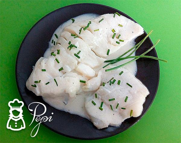 Bacalao con salsa roquefort