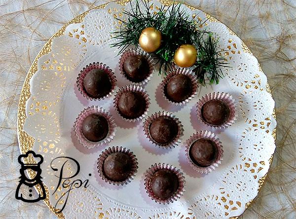 Bolitas de coco recubiertas de chocolate