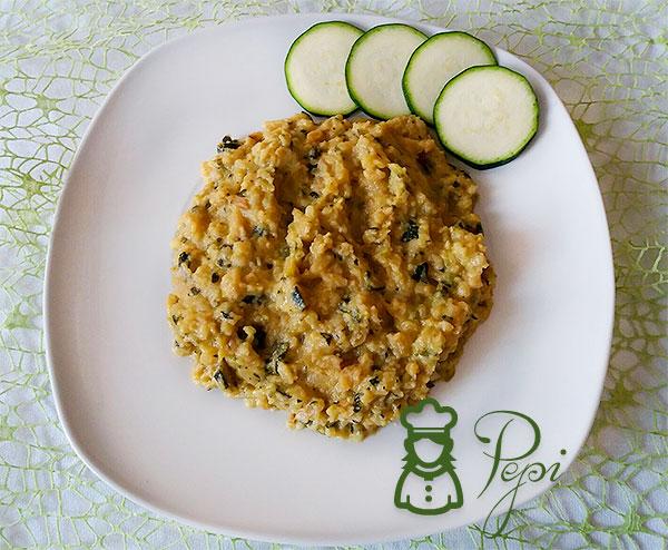 Calabacin con huevo y patatas