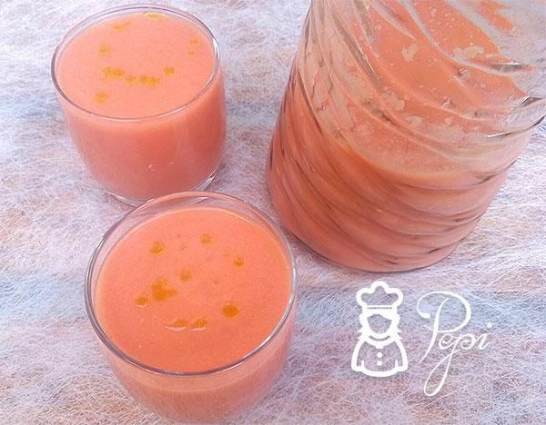 Gazpacho de nectarina thermomix