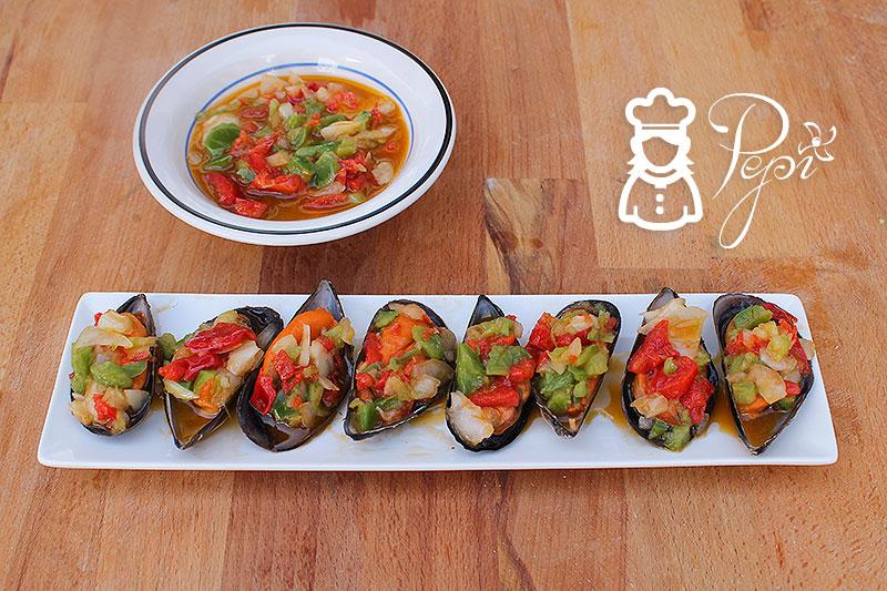 Mejillones en salsa vinagreta