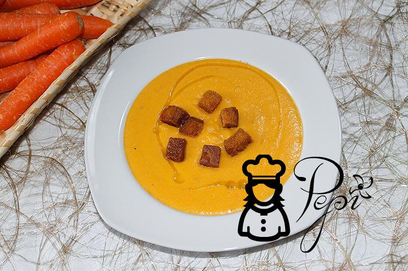 Crema de zanahorias y mascarpone