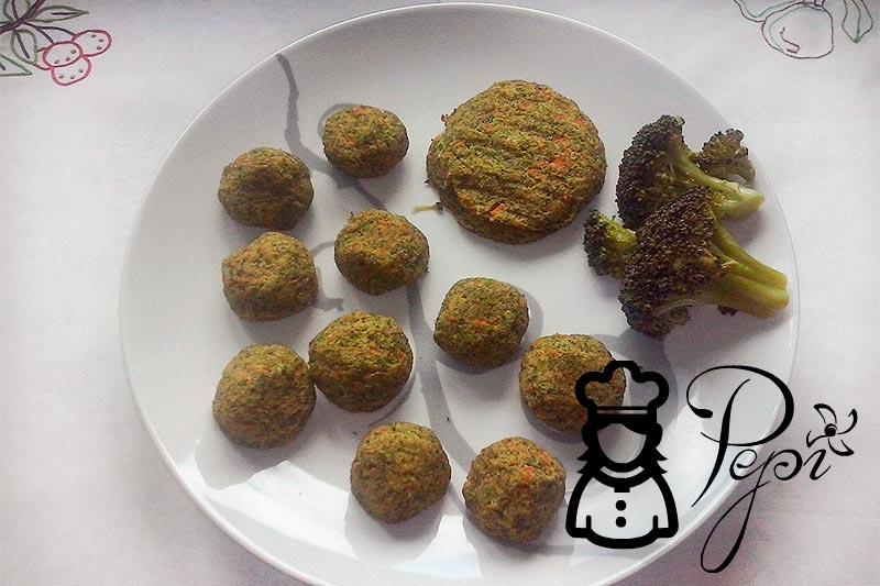 Albóndigas de zanahoria, brocoli y queso
